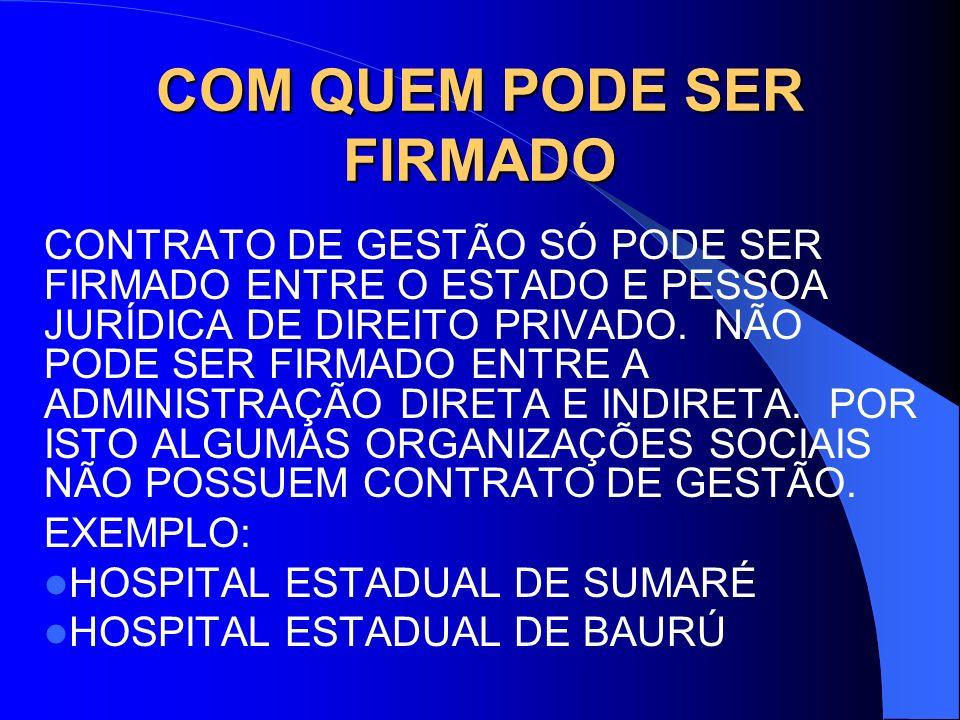 LEI 846 – LEI DAS ORGANIZAÇÕES SOCIAIS Art.