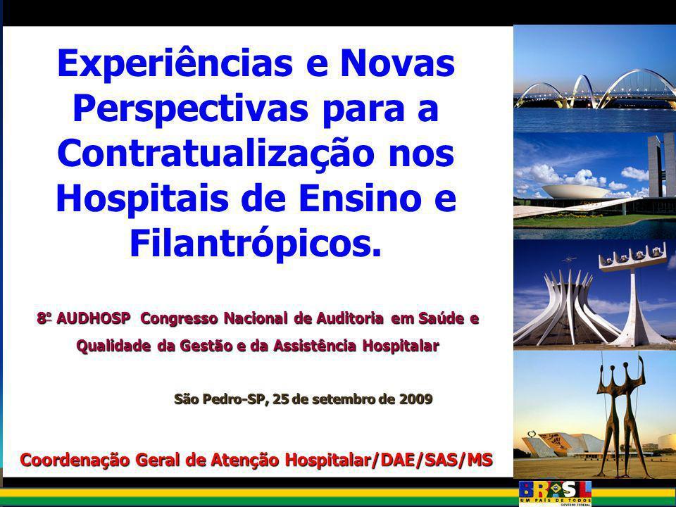 Rede Hospitalar Brasileira % e número de hospitais, por faixa de leitos Fonte: CNES – maio/09 UNIDADE UNIDADE ACUMULADA % % ACUMULA DO 1 a 41.014 12% 5 a 302.9683.98235%47% 31 a 501.5975.57919%66% 51 a 1001.5247.10318%84% 101 a 1506047.7077%91% 151 a 2003148.0214%95% 201 a 3002888.3093%98% > 3011758.4842%100% Total geral8.484100%