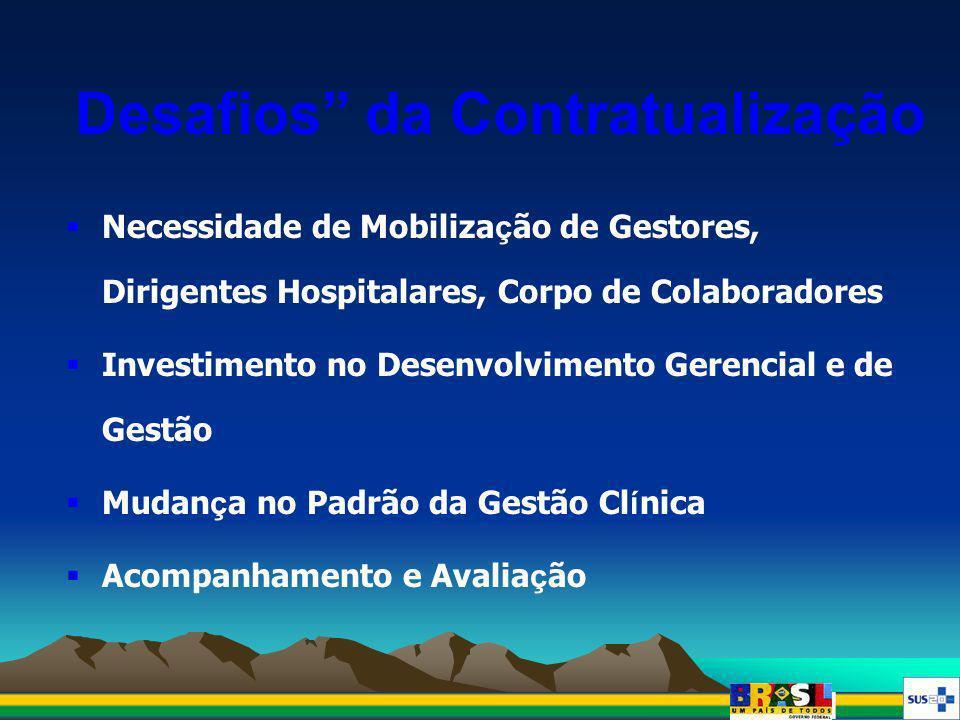 Necessidade de Mobiliza ç ão de Gestores, Dirigentes Hospitalares, Corpo de Colaboradores Investimento no Desenvolvimento Gerencial e de Gestão Mudan
