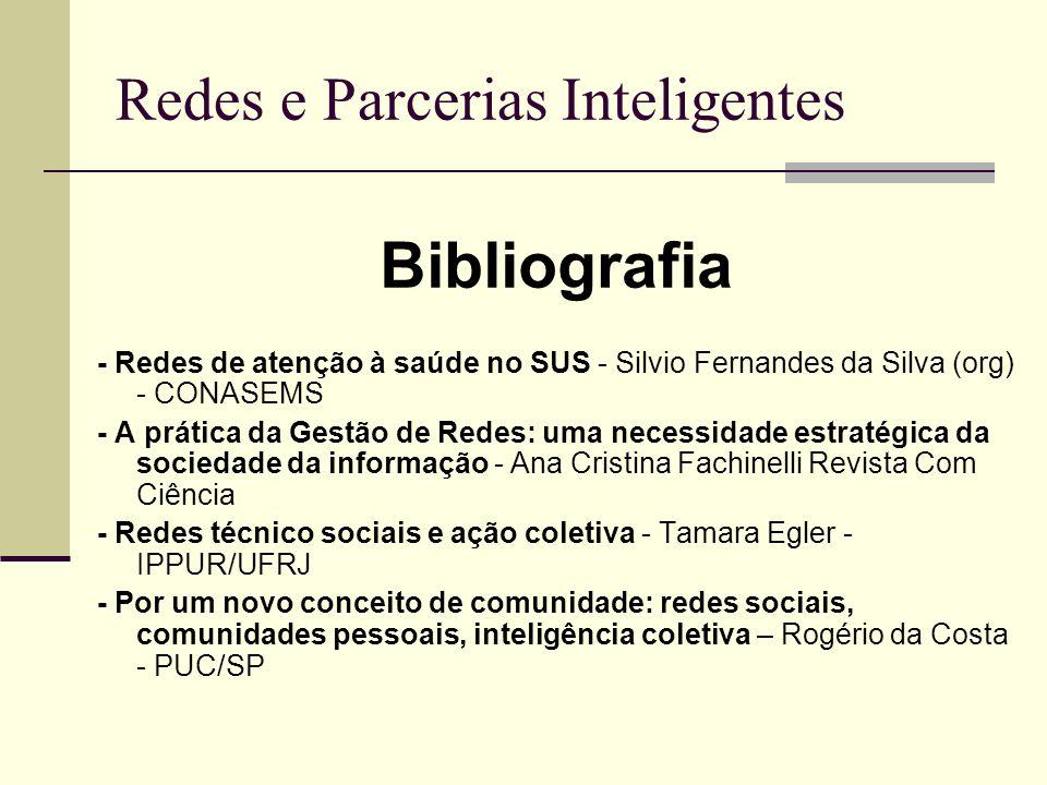 Redes e Parcerias Inteligentes Bibliografia - Redes de atenção à saúde no SUS - Silvio Fernandes da Silva (org) - CONASEMS - A prática da Gestão de Re