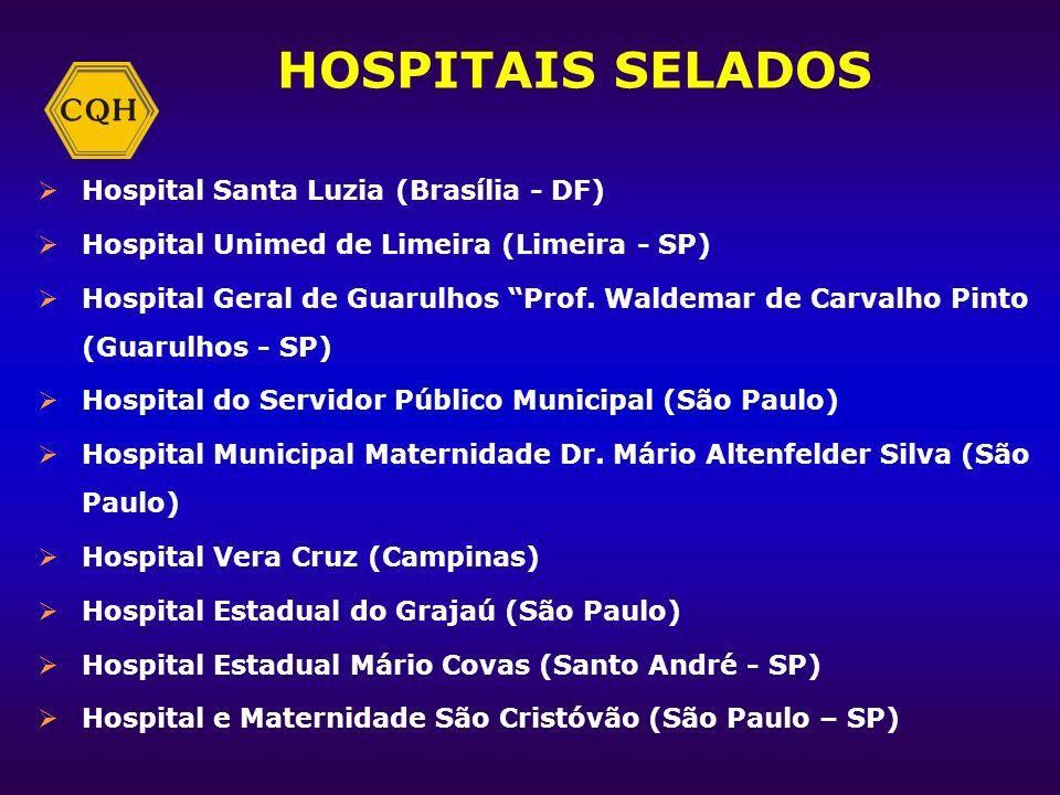HOSPITAIS SELADOS Hospital Maternidade Leonor Mendes de Barros (São Paulo) Hospital e Maternidade Alvorada – Santo Amaro (São Paulo) Hospital e Matern