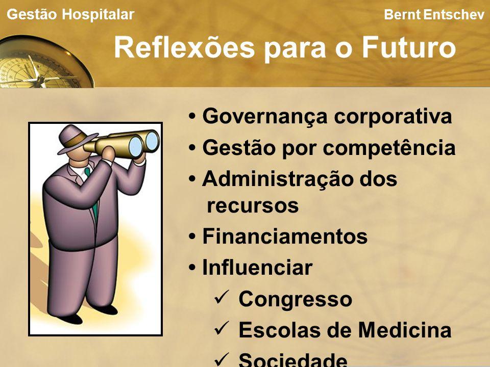 Bernt Entschev Reflexões para o Futuro Gestão Hospitalar Governança corporativa Gestão por competência Administração dos recursos Financiamentos Influ