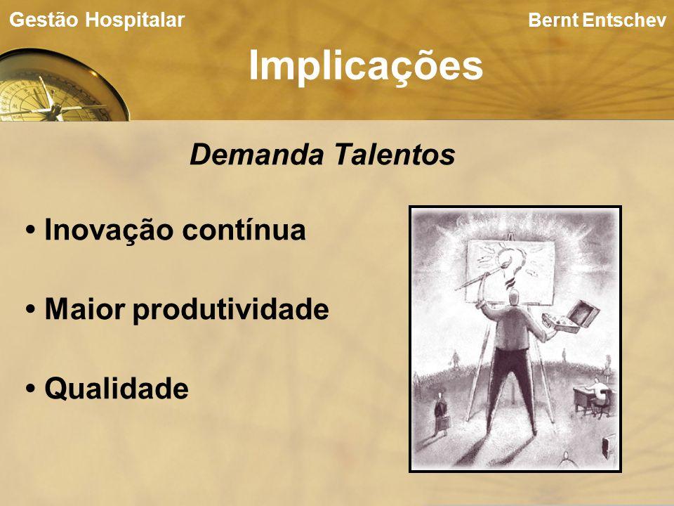 Bernt Entschev Implicações Gestão Hospitalar Demanda Talentos Inovação contínua Maior produtividade Qualidade