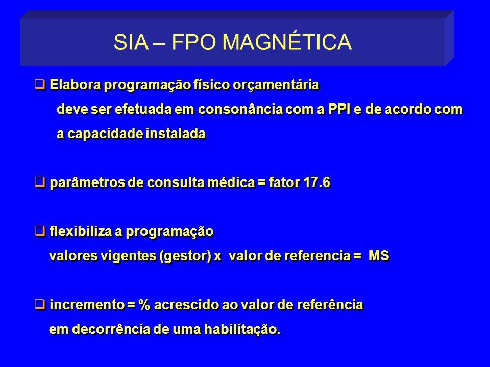 Elabora programação físico orçamentária deve ser efetuada em consonância com a PPI e de acordo com a capacidade instalada parâmetros de consulta médic