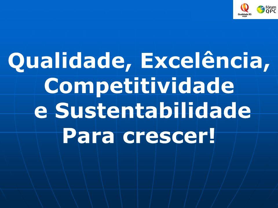 Qualidade, Excelência, Competitividade e Sustentabilidade Para crescer!