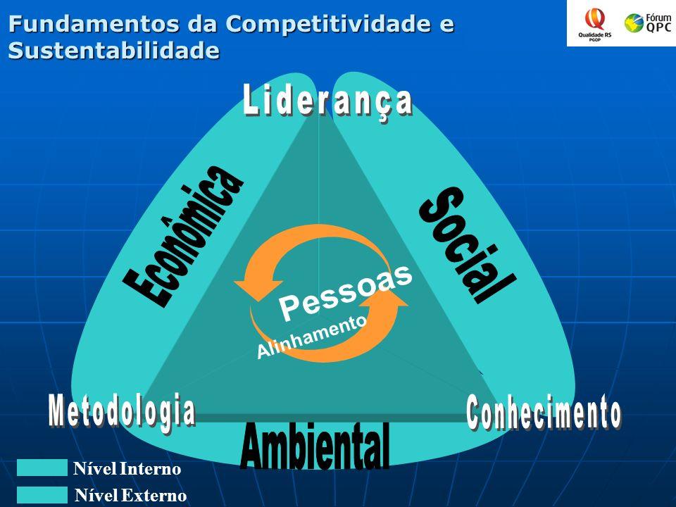 Fundamentos da Competitividade e Sustentabilidade Nível Interno Nível Externo Pessoas Alinhamento