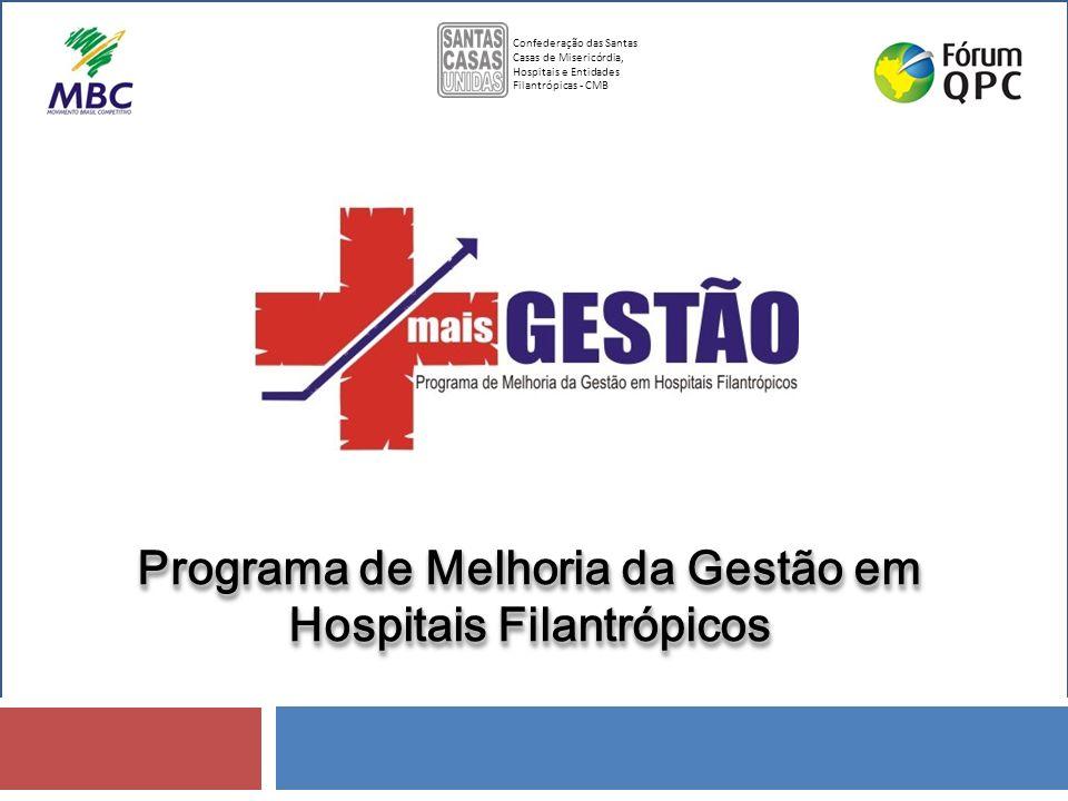 Programa de Melhoria da Gestão em Hospitais Filantrópicos Confederação das Santas Casas de Misericórdia, Hospitais e Entidades Filantrópicas - CMB