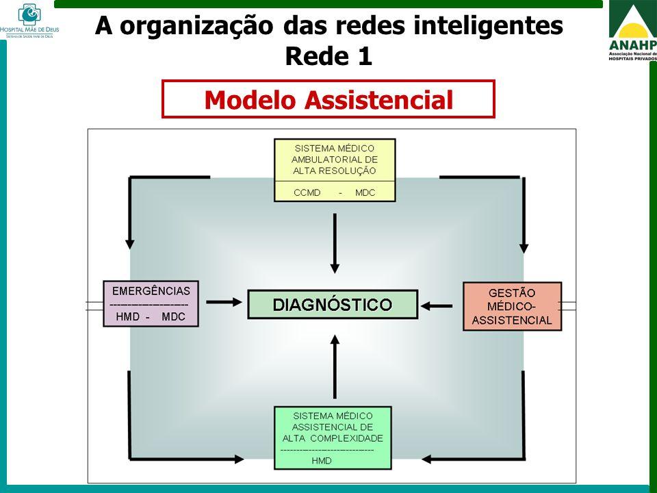 FEHOSP - 6 a 8 de maio de 2009 - Campinas - SP A organização das redes inteligentes Rede 1 Modelo Assistencial