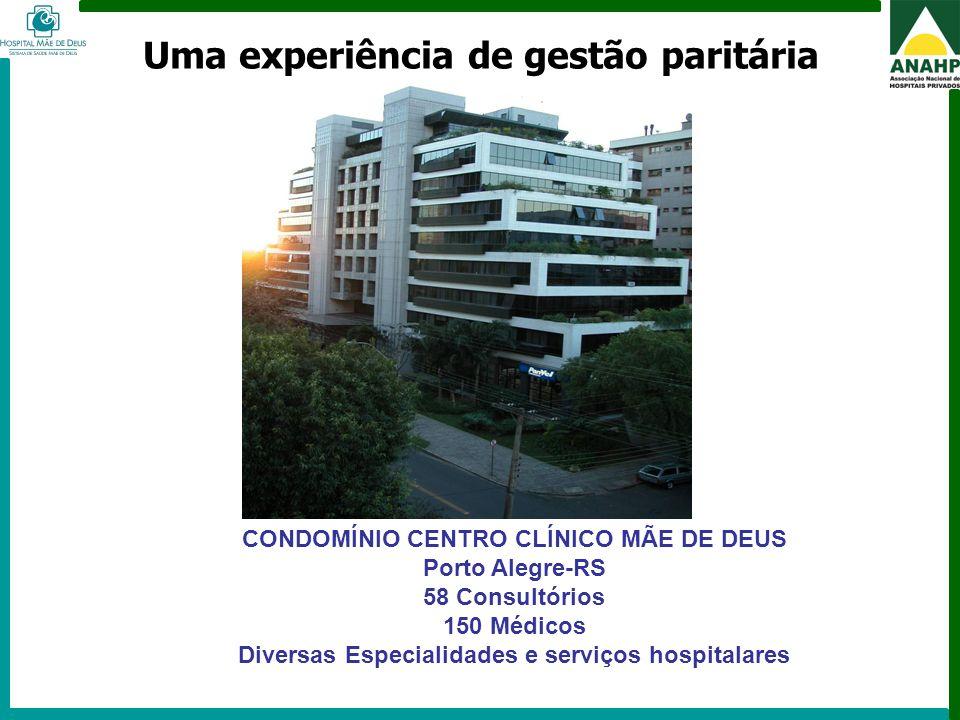 FEHOSP - 6 a 8 de maio de 2009 - Campinas - SP CONDOMÍNIO CENTRO CLÍNICO MÃE DE DEUS Porto Alegre-RS 58 Consultórios 150 Médicos Diversas Especialidad