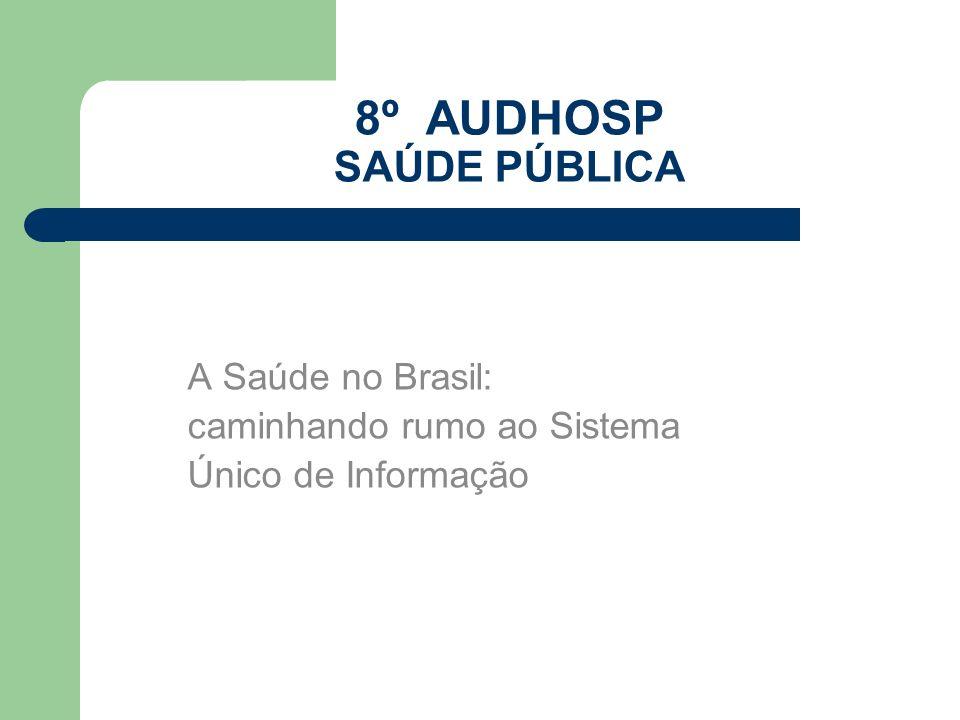 8º AUDHOSP SAÚDE PÚBLICA A Saúde no Brasil: caminhando rumo ao Sistema Único de Informação