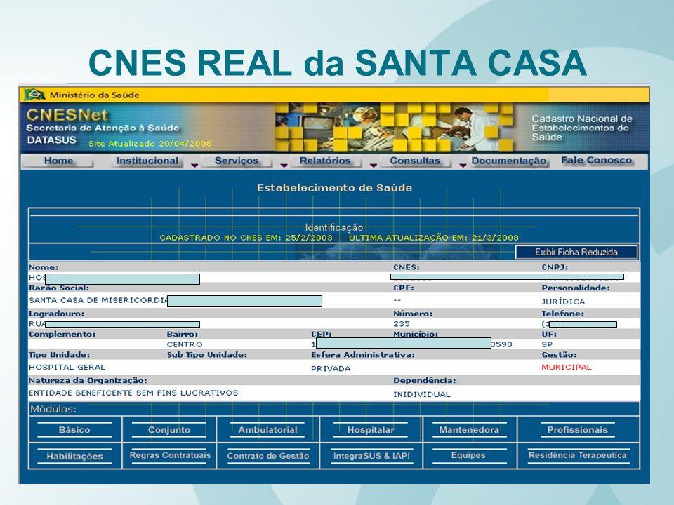 CNES REAL da SANTA CASA