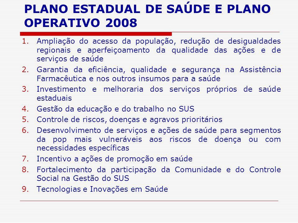 1.Ampliação do acesso da população, redução de desigualdades regionais e aperfeiçoamento da qualidade das ações e de serviços de saúde 2.Garantia da e