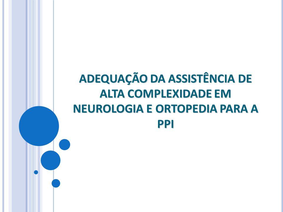 ADEQUAÇÃO DA ASSISTÊNCIA DE ALTA COMPLEXIDADE EM NEUROLOGIA E ORTOPEDIA PARA A PPI