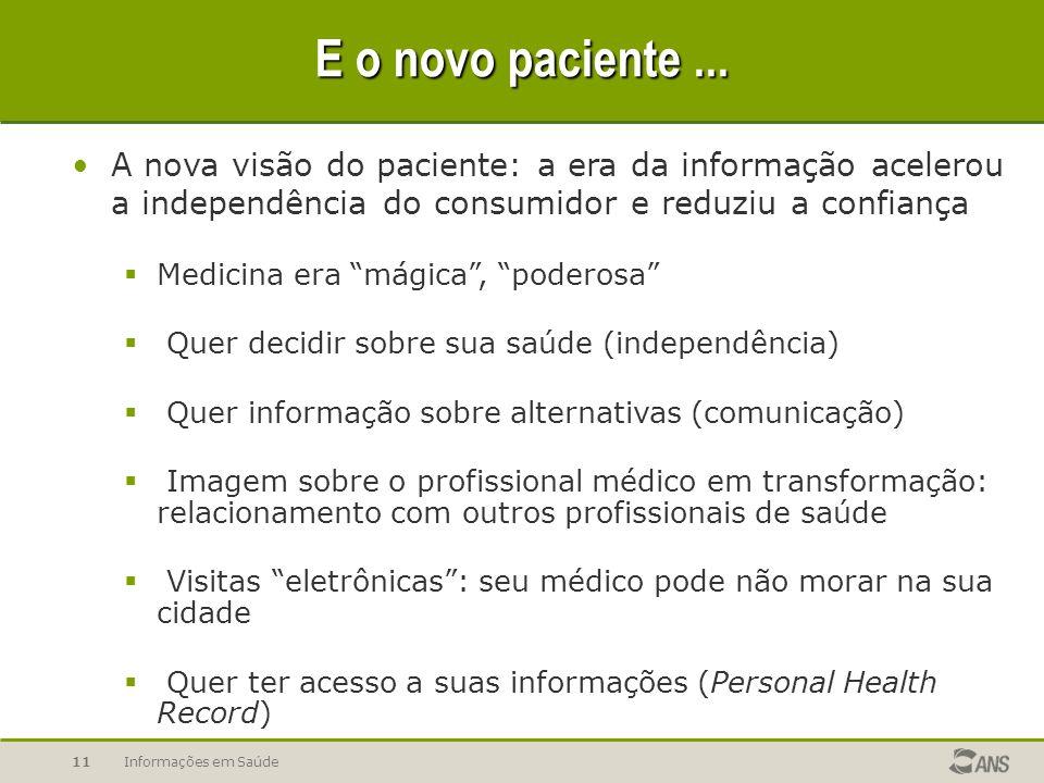 Informações em Saúde11 E o novo paciente...
