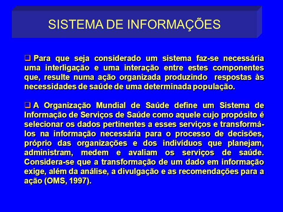Para que seja considerado um sistema faz-se necessária uma interligação e uma interação entre estes componentes que, resulte numa ação organizada prod