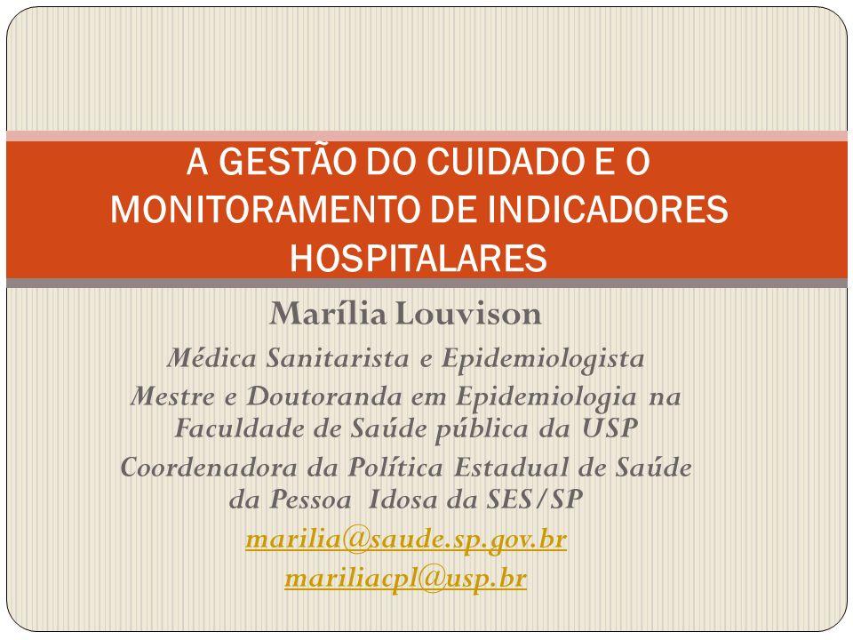 Marília Louvison Médica Sanitarista e Epidemiologista Mestre e Doutoranda em Epidemiologia na Faculdade de Saúde pública da USP Coordenadora da Políti