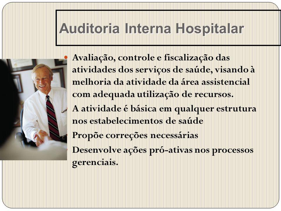 Avaliação, controle e fiscalização das atividades dos serviços de saúde, visando à melhoria da atividade da área assistencial com adequada utilização