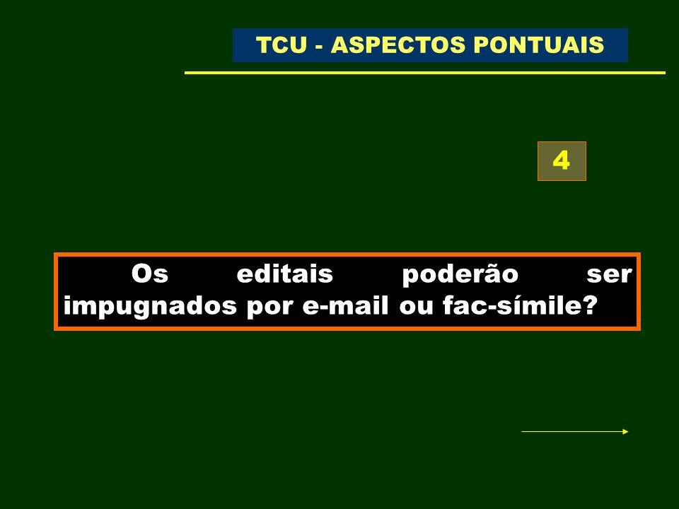 TC- 015.669/2001-1 – Representação DECISÃO N.º 156/2002 – TCU – PLENÁRIO - DOU de 27/03/2002 - Trecho do Acórdão: 8.2 determinar às Centrais Elétricas de Rondônia S/A - CERON que, nos procedimentos licitatórios futuro, não proíba a apresentação de recursos/impugnações via FAX, e esclareça nos editais que a utilização desse instrumento não desobriga a apresentação do documento original, dentro de prazo razoável a ser estabelecido; TCU - ASPECTOS PONTUAIS