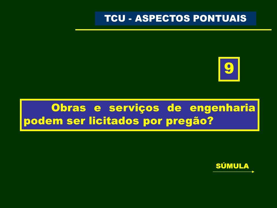 25 TCU – TRIBUNAL DE CONTAS DA UNIÃO ÓRGÃOS DE CONTROLE O uso do pregão nas contratações de serviços comuns de engenharia encontra amparo na Lei nº 10.520/2002.