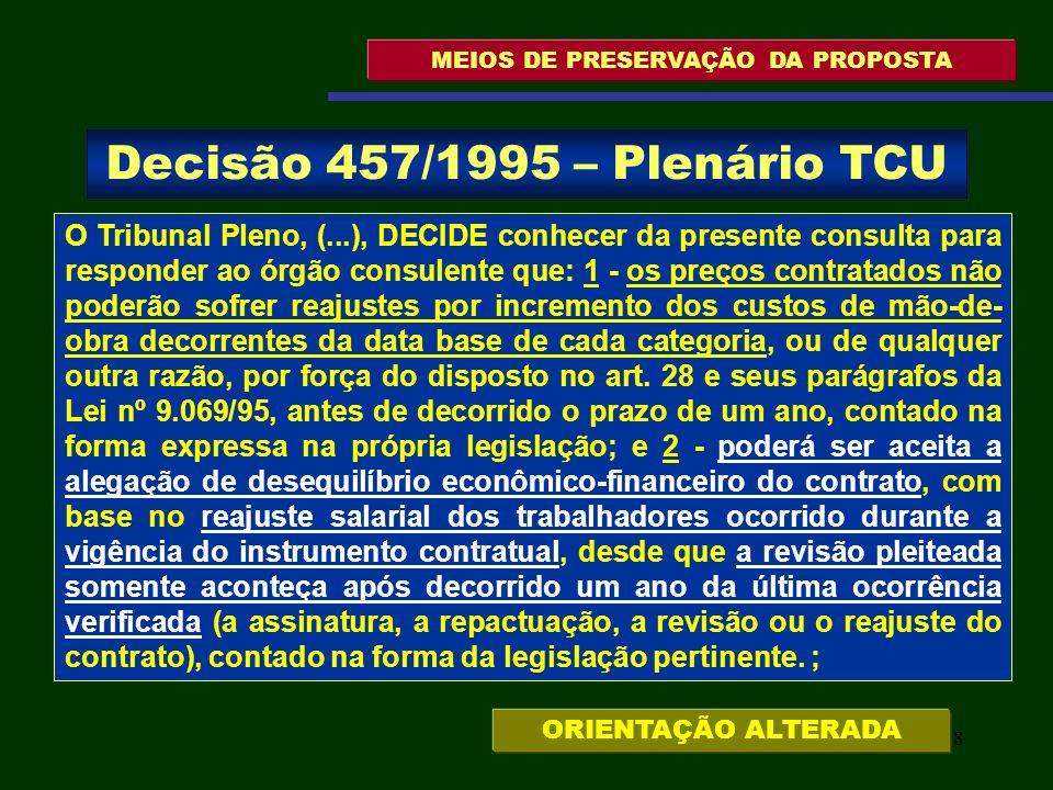 59 MEIOS DE PRESERVAÇÃO DA PROPOSTA 9.1.3.