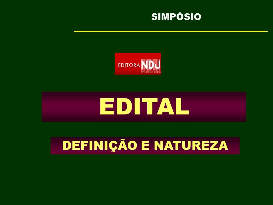 EDITAL DEFINIÇÃO E NATUREZA SIMPÓSIO