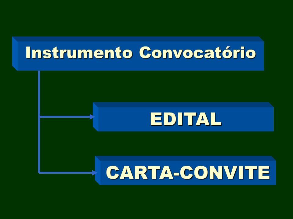 Instrumento Convocatório EDITAL CARTA-CONVITE