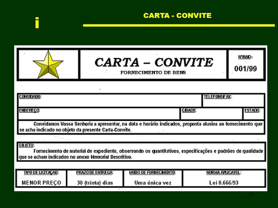 65 CARTA - CONVITE i