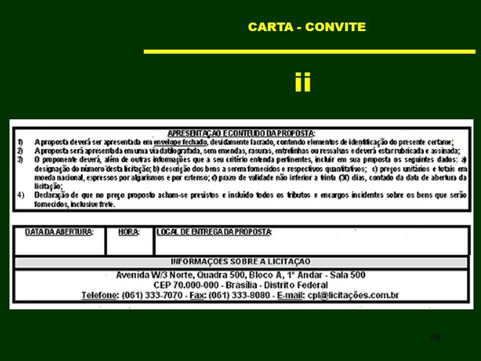 66 ii CARTA - CONVITE