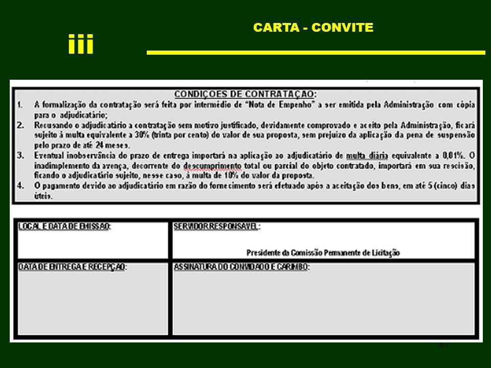 67 CARTA - CONVITE iii