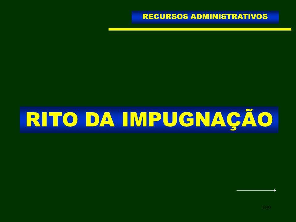 109 RITO DA IMPUGNAÇÃO RECURSOS ADMINISTRATIVOS