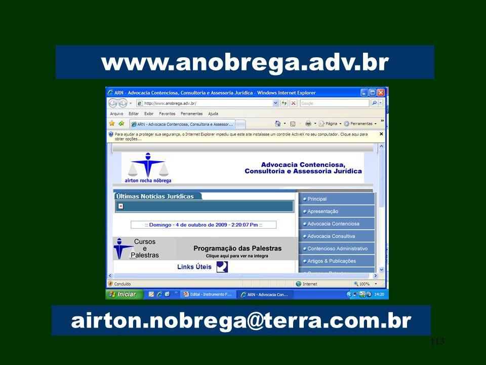 113 www.anobrega.adv.br airton.nobrega@terra.com.br
