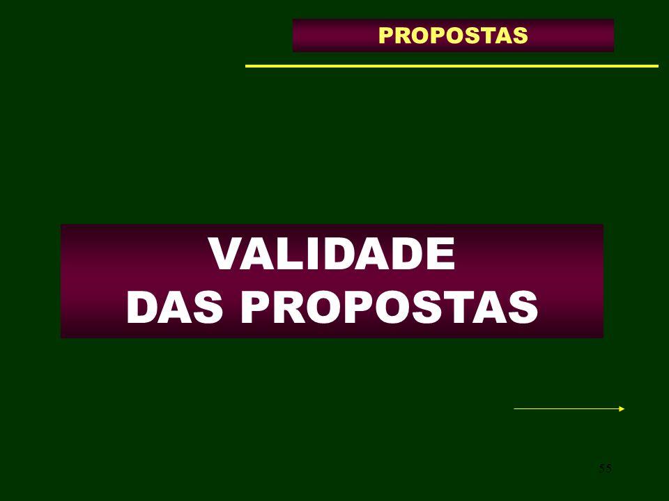 55 VALIDADE DAS PROPOSTAS PROPOSTAS