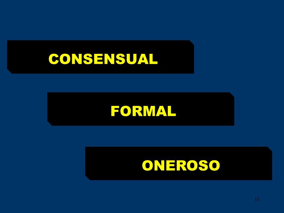 11 CONSENSUAL FORMAL ONEROSO