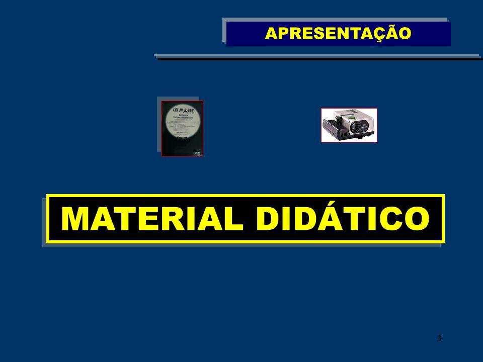 33 MATERIAL DIDÁTICO APRESENTAÇÃO