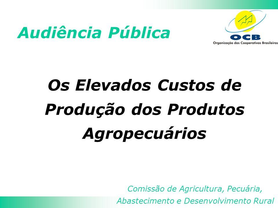 Audiência Pública Comissão de Agricultura, Pecuária, Abastecimento e Desenvolvimento Rural Os Elevados Custos de Produção dos Produtos Agropecuários