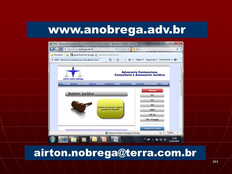 161 www.anobrega.adv.br airton.nobrega@terra.com.br