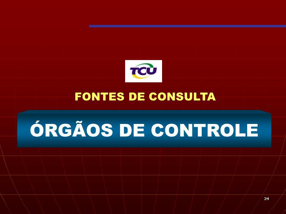 2424 ÓRGÃOS DE CONTROLE FONTES DE CONSULTA