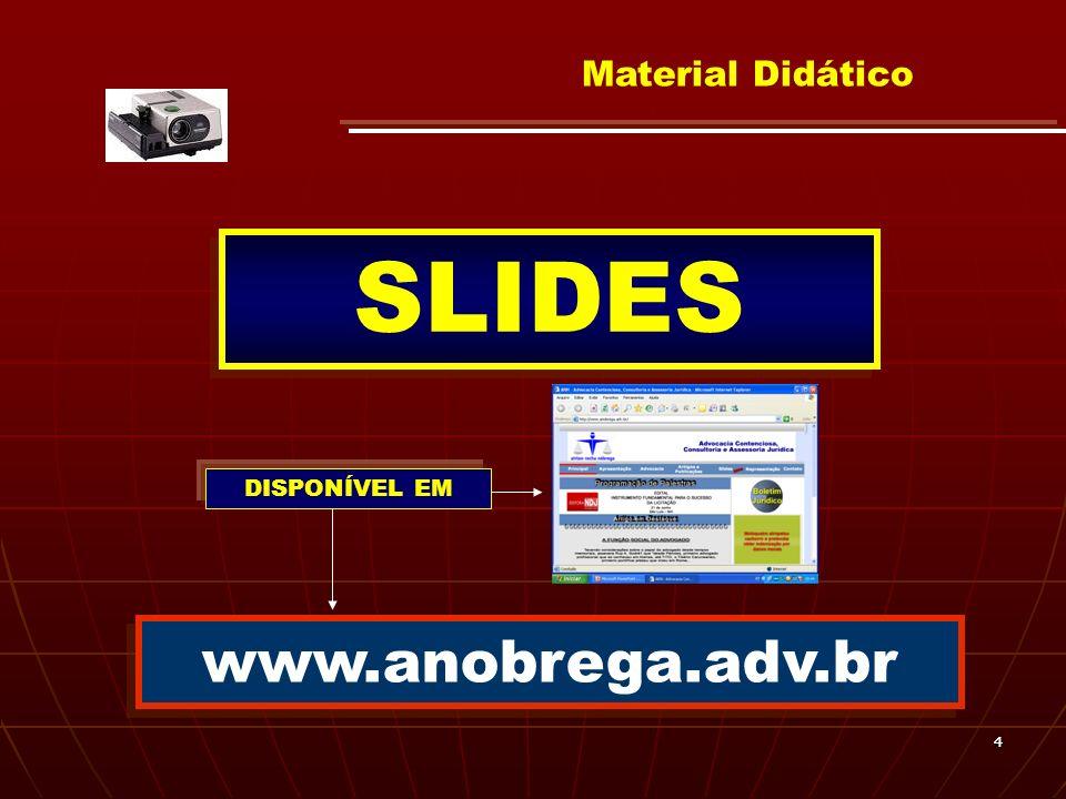 44 Material Didático SLIDES www.anobrega.adv.br DISPONÍVEL EM