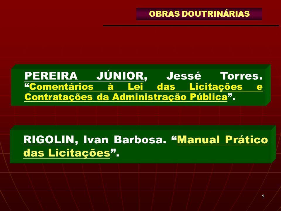 1010 FERNANDES, Jorge Ulisses Jacoby.Sistema de Registro de Preços e Pregão Presencial e Eletrônico.
