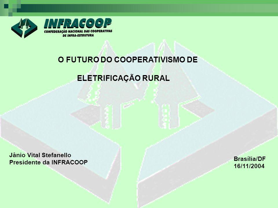 O FUTURO DO COOPERATIVISMO DE ELETRIFICAÇÃO RURAL Jânio Vital Stefanello Presidente da INFRACOOP Brasília/DF 16/11/2004