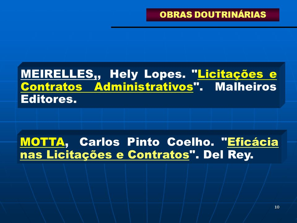 10 MEIRELLES,,Hely Lopes.