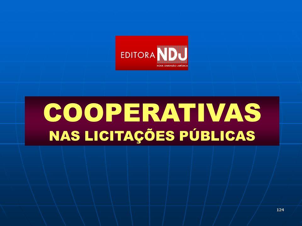 124 COOPERATIVAS NAS LICITAÇÕES PÚBLICAS