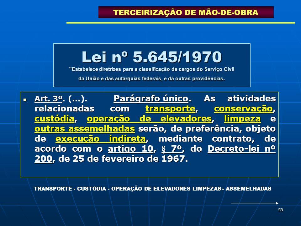59 Lei nº 5.645/1970