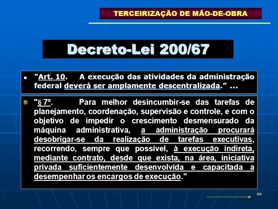 60 Decreto-Lei 200/67