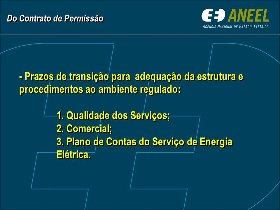 - Prazos de transição para adequação da estrutura e procedimentos ao ambiente regulado: 1.