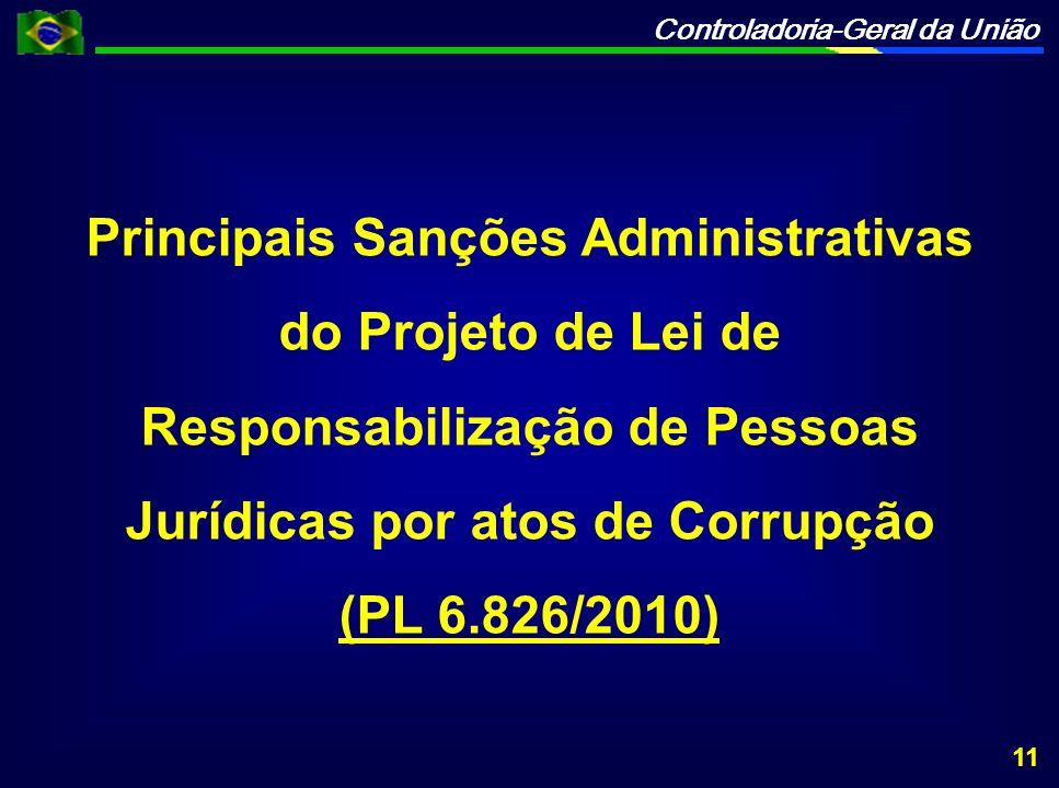 Principais Sanções Administrativas do Projeto de Lei de Responsabilização de Pessoas Jurídicas por atos de Corrupção (PL 6.826/2010) 11