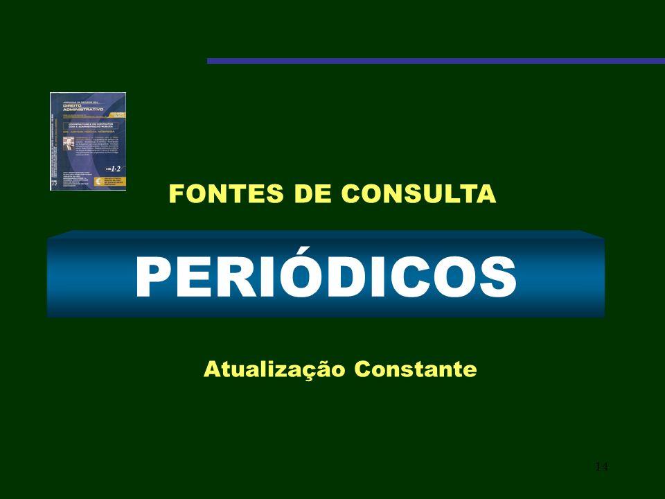 14 PERIÓDICOS Atualização Constante FONTES DE CONSULTA