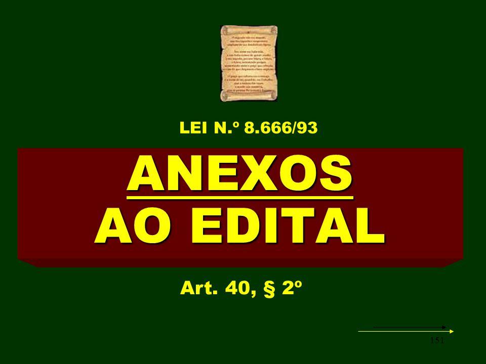 151 ANEXOS AO EDITAL Art. 40, § 2º LEI N.º 8.666/93