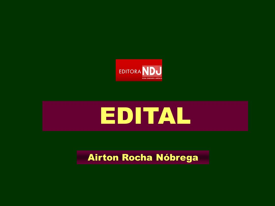 EDITAL Airton Rocha Nóbrega