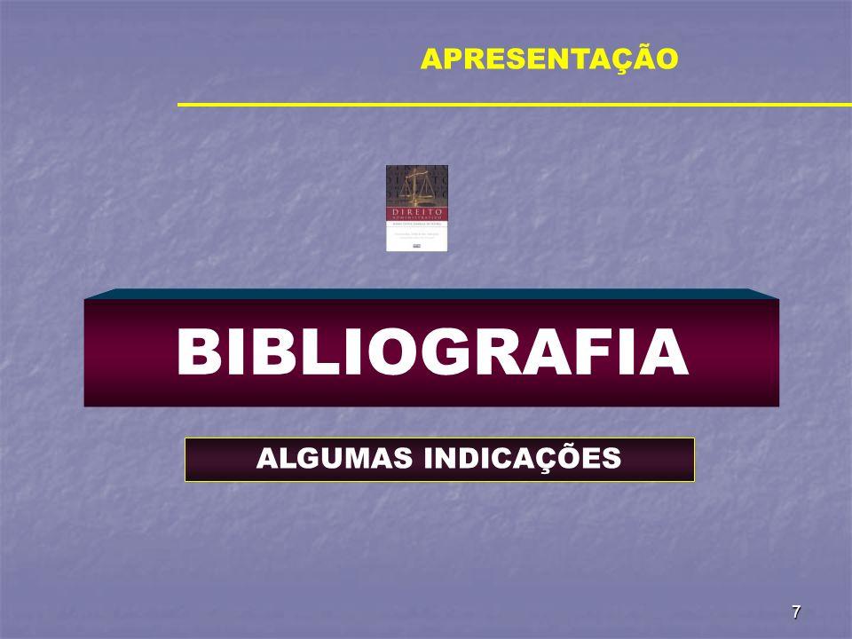 7 BIBLIOGRAFIA APRESENTAÇÃO ALGUMAS INDICAÇÕES